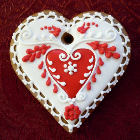 Gingerbread Heart Small A205GBS 3""