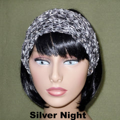 Fashion Knit Headband - Silver Night