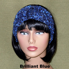 Fashion Knit Headband - Brilliant Blue