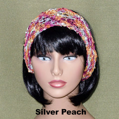 Fashion Knit Headband - Silver Peach