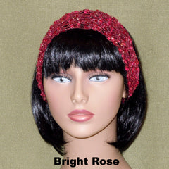 Fashion Knit Headband - Bright Rose