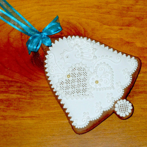 Gingerbread Wedding Bell Gift for Bride and Groom 4 1/2""