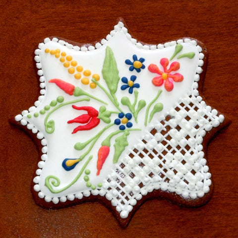 Gingerbread Plaque Ornament with Norwegian Motif 3""
