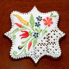 Gingerbread Plaque Ornament with Rosemaling