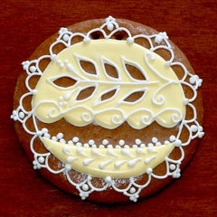Decorative Gingerbread Ornament with Yellow Icing