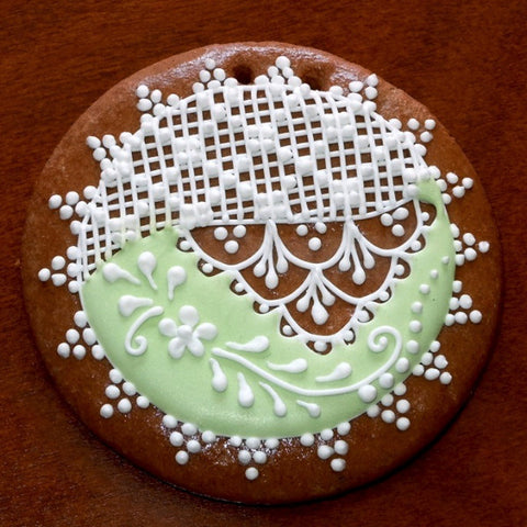 Decorative Gingerbread Ornament GBG319 3 1/2""
