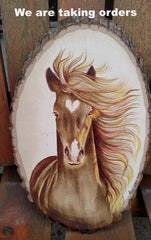 Coffee Painting - Horse head
