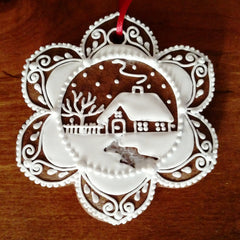 Gingerbread ornament - cottage