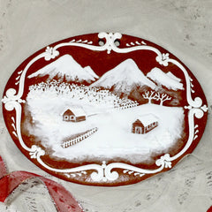 Gingerbread picture - Farm in mountains
