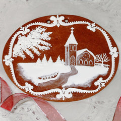 Gingerbread winter scene - church