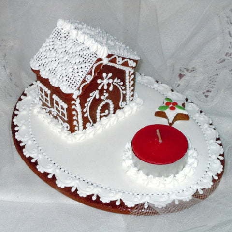 Gingerbread House with Candle A410GBL 7x5x4""