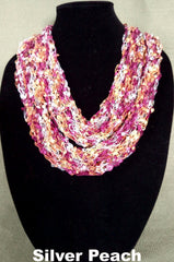 Fashion Infinity Scarf - Silver Peach