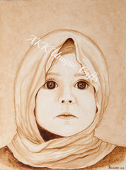 Painted with Coffee - The Innocent Little Girl