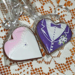 Wedding Favors - Gingerbread Bride and Groom GBBG702 3""