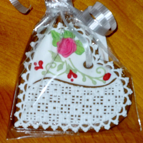 Lacy Gingerbread Heart GBH304 3""