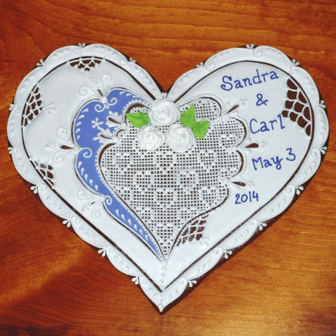 Wedding Gingerbread Heart Motif GB201 8""