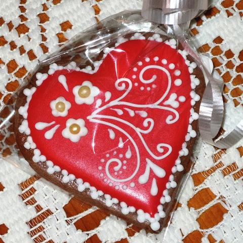 Wedding Favors - Gingerbread Heart GBWF303 3""