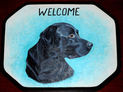 Welcome Sign - Black Labrador