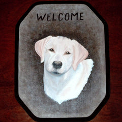 Welcome Sign - Yellow Labrador