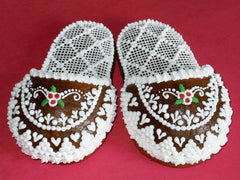 Gingerbread Christmas slippers