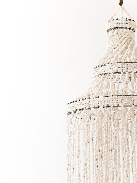 3 Layer Shell Chandelier
