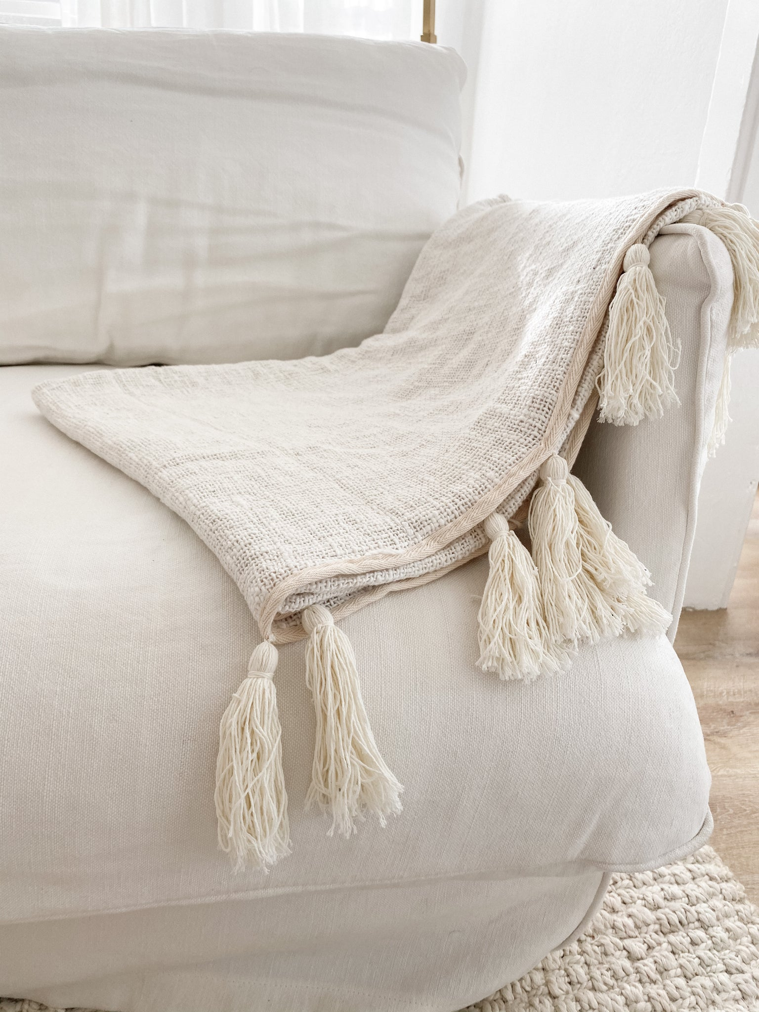 Throw with Tassels