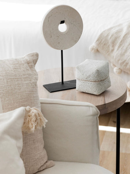 Circular Marble Stand in Natural