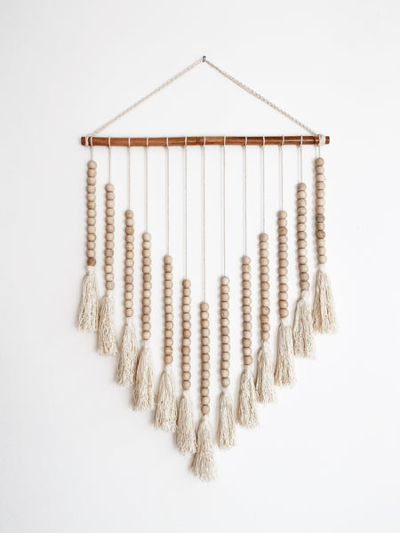 Beaded Arrow Macrame in Natural