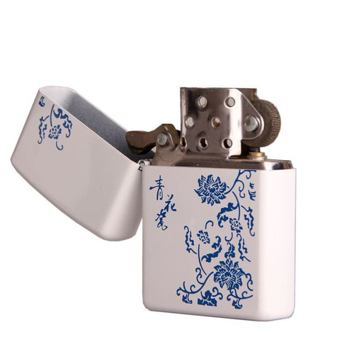 Vintage Flower Design Kerosene Lighter