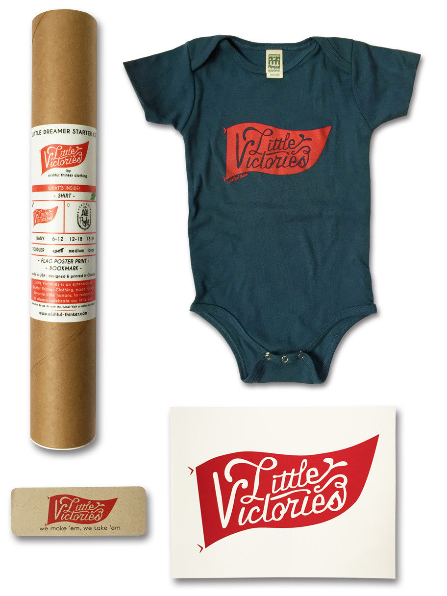 ORGANIC Little Victories Flag Onesie