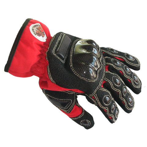 "Schmitz Mittz ""Ulta-Mittz"" Safety Gloves Hi-Viz Red-Side"