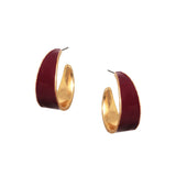Wide Enamel Hoops