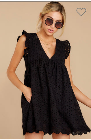 Marcelle Eyelet romper dress