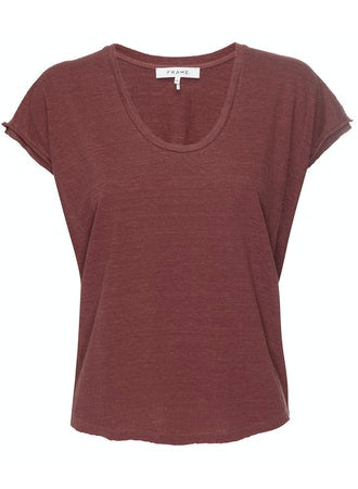 FRAME Easy Scoop Tee sable