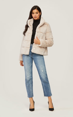Bea Faux Fur Coat~ Sandstone
