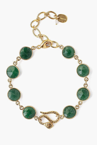 Chan Luu Snake and Indian Aventurine Bracelet