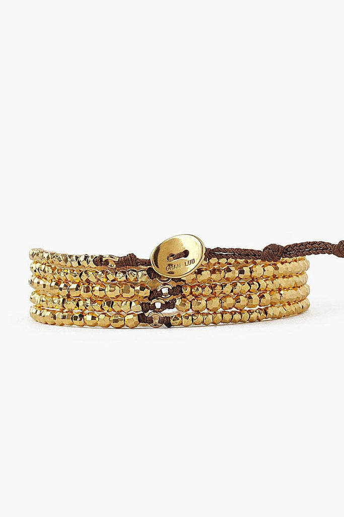Chan Luu Yellow Gold Naked Wrap Bracelet