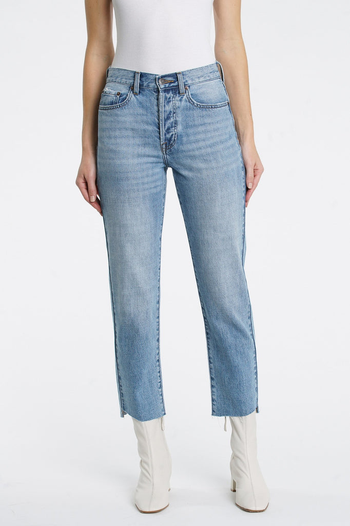 Charlie High Rise Straight Jeans - Gemini