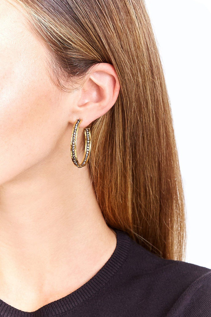 Chan Luu Gunmetal Sedonna Hoop Earrings