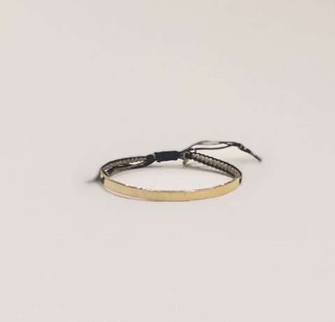 Tai Braided Gold Bar Bracelet