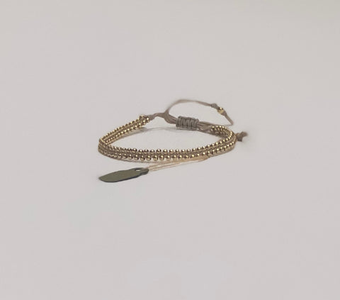 Tai Double Beaded Gold Bracelet