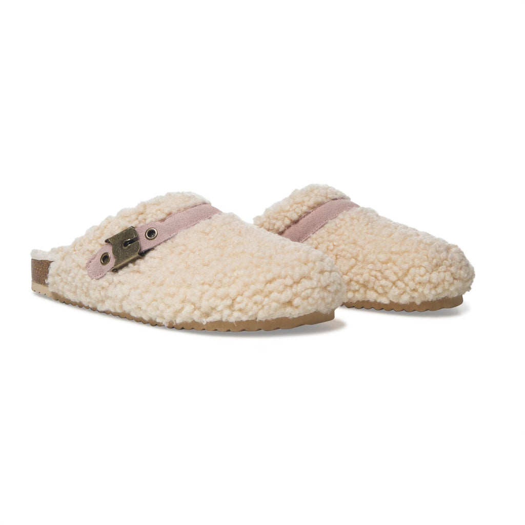 Cozy Slide in Slippers- Beige