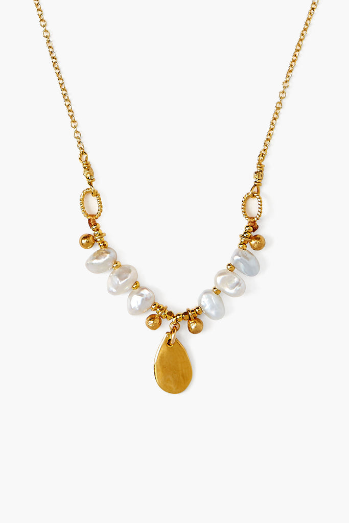 Chan Luu Pearl Tear Drop Pendent  Necklace