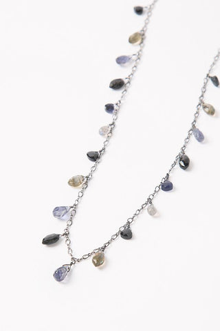 Iolite Mix Marquise Layering Necklace