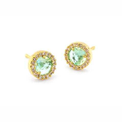 Tai Small Pave Glass Earrings