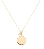 Melanie Auld Gold Vermeil Disc Necklace