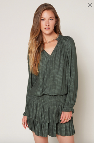 Current Air Jacquard Ruffled Mini Dress