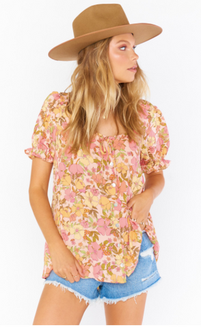 Brunch Top- Pretty Poppy