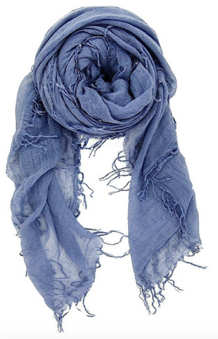 Cloud Grey Cashmere And Silk Scarf