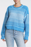 Eva Cropped Salted Blue Crewneck Sweater